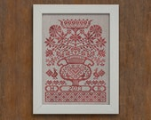 Folk Flowers - Instant Download PDF cross-stitch pattern