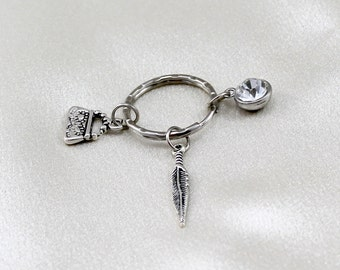 Clearance, key ring, purse charm, key fob, keychain