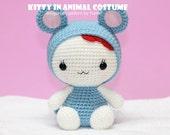 INSTANT DOWNLOAD PDF Pattern: Amigurumi Kitty in Rat Costume/ Chinese Zodiac Rat