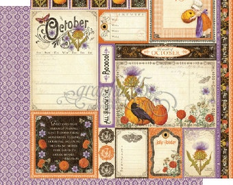 """BOTH October Pages - Graphic 45 """"Time to Flourish""""  ** See Discounted Shipping Note**"""