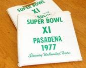 Vintage Superbowl Seat Cushions XI Pasadena California Excellent Condition Oakland RAIDERS vsMinnesota VIKINGS