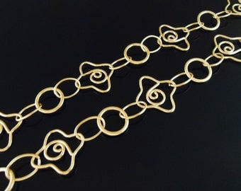 A-158. 50cm, Gold plated, Starfish, KKM - 1 chain
