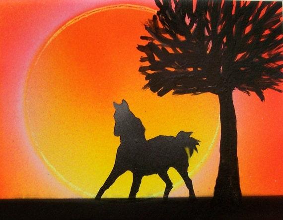 Spray Paint Silhouette Spray Paint Art Mini 5 5 Quot x 7 Quot