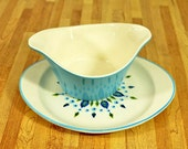 Midcentury Marcrest Swiss Alpine Gravy Boat and Liner Plate
