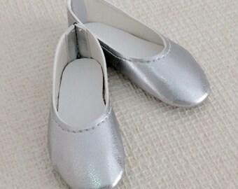Basic Silver shoes for Minifee,  JID, MSD, BJD on Box