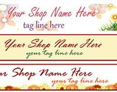 Ready Made Cute Flower Shop Banner - You Pick One