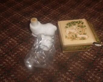 vintage avon perfume bottle little lamb sweet honesty cologne full