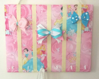 Hair Bow Holder Medium Disney Princess Padded Hair Bow Organizer with Hooks for Headbands