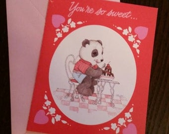 Vintage Valentine with Panda