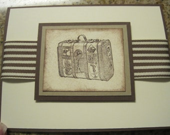 Vintage Luggage Card
