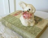 Adorable Little Bunny - Painted Terra Cotta Figurine
