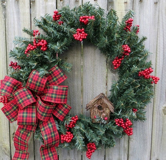 Items Similar To Simple Lodge Wreath Holiday Wreaths