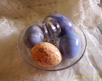 Vintage Stone Easter Eggs-Four (4)