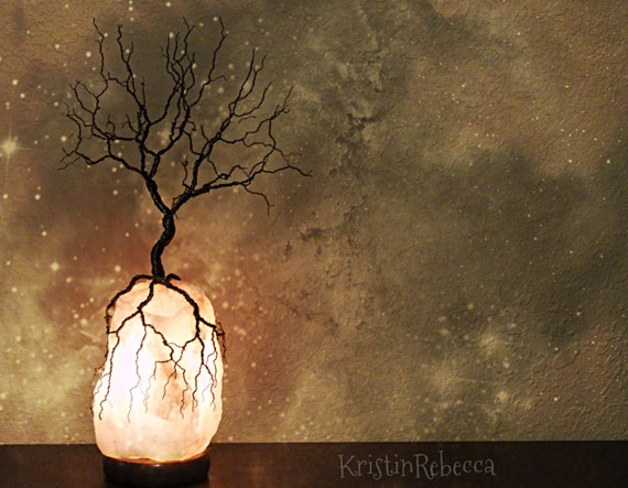 Wire Tree Of Life Sculpture Twisted Wire Tree Himalayan Salt