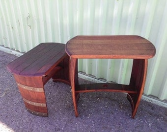 "20"" - 24"" Wine Barrel End Table, Stool, Bench"