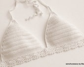 Crochet crop top, Crochet top, Halter, Top bra, Festival top, Handmade, Hippie, Summerwear, Coachella, Gypsy style, Boho Bohemian style