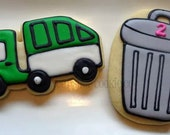 Garbage Trucks and Cans Cookies 2 dozen