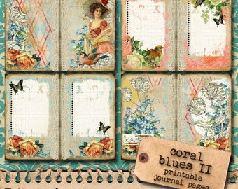 Coral Blues II - Jumbo Journal Paper Set