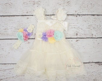 girls easter dress- baby easter dress- lace dresses - girls lace dresses - ivory lace dress- baby dresses- girls easter outfit- baby outfit