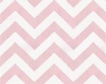 Chevron Suede - Pink and White - Micro Suede - by the yard
