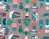 What a Gem Succulents in Grey, Allison Cole, 100% Cotton, Camelot Fabrics, 8140602 2