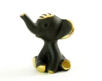 "Walter Bosse Elephant - Brass ""Black Gold"" Elephant Figurine — ""Elefant"""