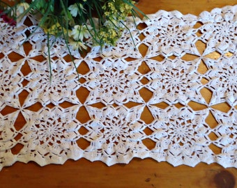 Crocheted Doily Large White Crochet Doily Vintage Doilies Doilies Handmade  B194