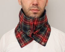 CLEARANCE SALE Men scarf ,unisex scarf ,  winter scarf , NECKWARMER , scarf  with snaps