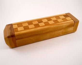 Checkerboard trinket box treasure box handmade wood box