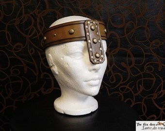 Heavy leather customizable barbarian crown, Conan the barbarian inspired