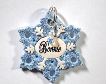 Snowflake Pet Tag / Dog Tag