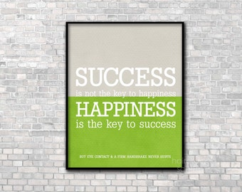 Success Quote Art Poster Inspirational Print Typography Funny Art Print Inspirational Poster Motivational Print Typographic Art Office Decor