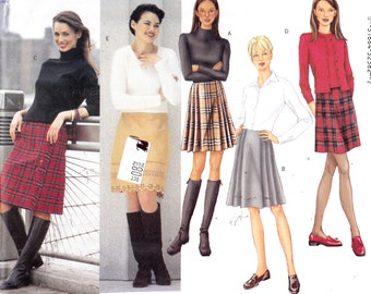 "Womens Sewing Pattern A-Line Skirt in Two Lengths Butterick 6794 Waist 23-25"" Sizes 6-8-10"