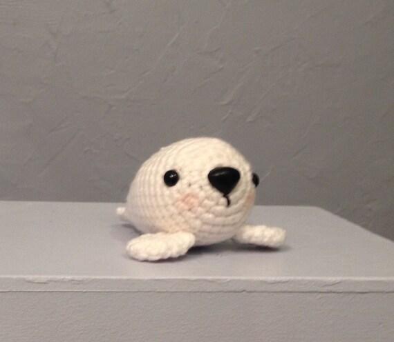 Crocheted Baby Seal - Seal Amigurumi - handmade seal