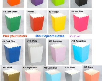 Popcorn Boxes 24 ct. Mini Treat Boxes Favor Boxes Candy Boxes Mini Popcorn Boxes Wedding Favors Birthday Favor Boxes