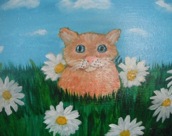 Down Among the Daisies / Original Painting / Acrylic Painting / Painting / 9 x 12