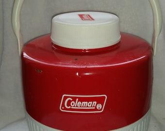 Vintage Fire Engine Red Coleman Picnic Jug