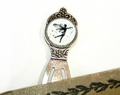 Tiny Fairy Silhouette Metal Bookmark silvercolored - fairy tale special gift fay elf elves