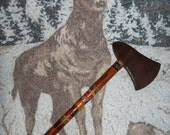 Tomahawk Hatchet Toy Hand Carved Painted Handle Vintage 1950's