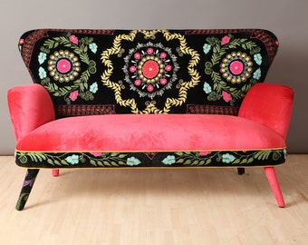 Suzani 2 seater sofa - pink fever