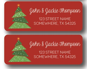 Christmas Return Address Labels - Christmas Tree