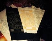 Fabric crystal grid  sri yantra metatron cube meditation yoga spiritual mandala psychic