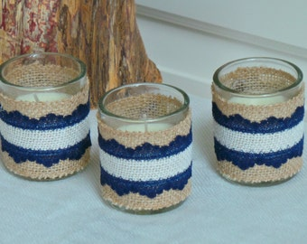 Rustic Bridal Shower Decor, Candles Hostess Gift,  GIFT BOX 6 PC.