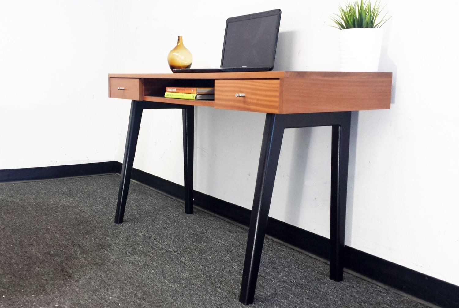 Sample sale discounted by 400 bucks ready to ship mid - Modern office desk ...