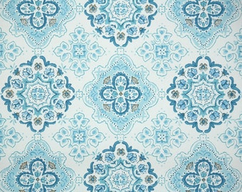 Retro Wallpaper by the Yard 60s Vintage Wallpaper - 1960s Blue and White Geometric