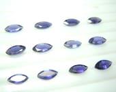10 Pc Gorgeous Blue Iolite Marquoise Cut Stone 5x10mm Wholesale Price