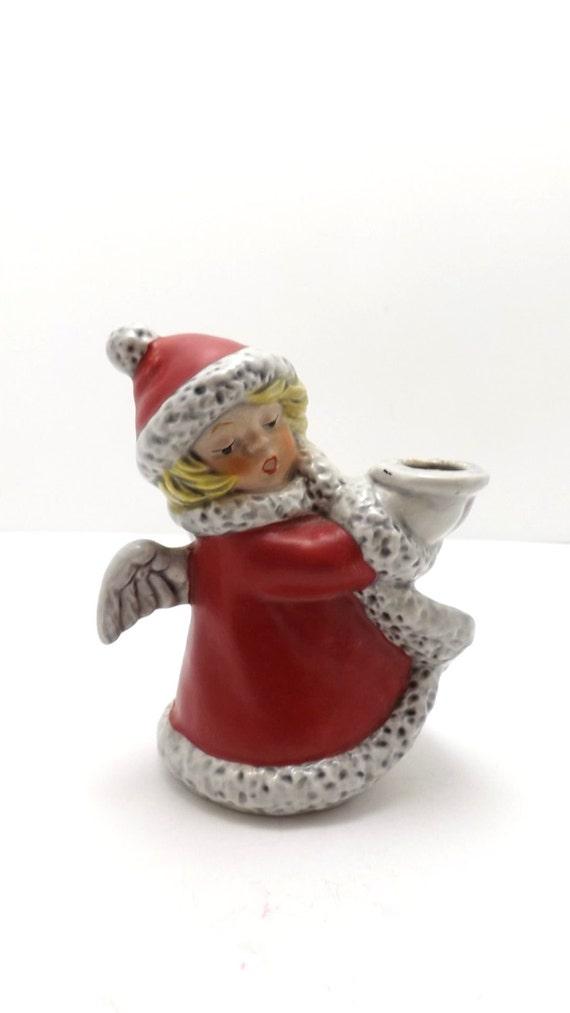 1975 goebel engel kerzenhalter figur weihnachten fig rchen. Black Bedroom Furniture Sets. Home Design Ideas