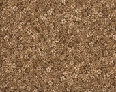 Brown Flower Fabric for MDG Fabrics/Floral Cotton Quilt Craft Apparel/Fabric by the Yard/Fabric by the Half Yard/Fat Quarter/PRICES Vary