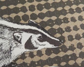 "Original Art-Card (1 card) ""Badger Bold & Beautiful"" envelope included"