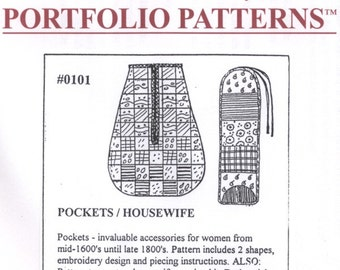 MM0101 - Miller's Millinery 17th-19th Century Pockets and Housewife Sewing Pattern